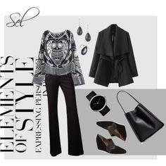 """""""autumn in black & white"""" by selenitabr on Polyvore"""