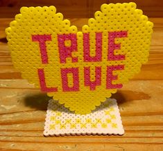 Perler Bead True Love Candy Heart Valentines Day