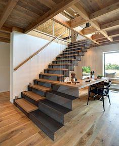 Elegant Eco Friendly Beach Residence | stair-desk combo | #desk #stair
