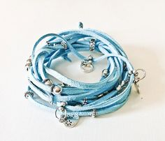 Turquoise Suede Leather Grecian Arm Wrap by Euvella on Etsy, $27.90