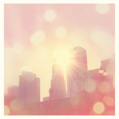 LA photograph city of lights downtown Los Angeles by sixthandmain, via Etsy.