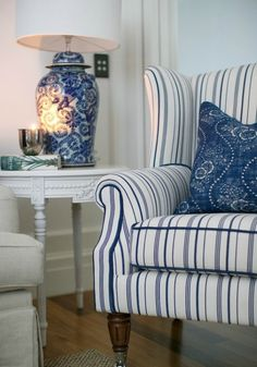 Beautiful House | Decorating With Blue and White Stripes | http://beautifulhouse.com.au