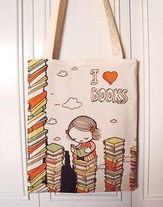 Amo los libros y las bolsas!