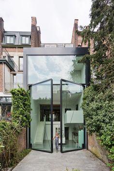 Tylnej elewacji. LALO Townhouse in Antwerp by sculp[IT]architecten.