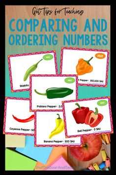 Step by step tips for teaching how to compare and order numbers to 1 million. Read how on Shut the Door and Teach. Upper Elementary Resources, Elementary Math, Ordering Numbers, Math Task Cards, Fourth Grade Math, Fun Math Games, Common Core Math, Teacher Blogs, Teaching Tips