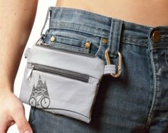 graphite gray bike belt bag waist bag Vegan PRINT by SKmodell