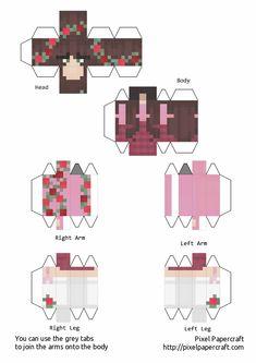 Skins Minecraft, Minecraft Room, Minecraft Crafts, Minecraft Templates, Minecraft Designs, Papercraft Minecraft Skin, Paper Toys, Paper Crafts, Painting Minecraft