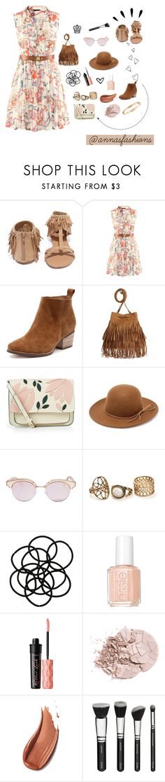 """""""The Map That Leads To You"""" by annasfashions ❤ liked on Polyvore featuring Qupid, H&M, Accessorize, RHYTHM, Le Specs, Monki, Essie, Benefit, Old Navy and Cartier"""