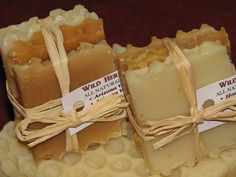ALL NATURAL HONEY SOAP PACKET - Variety set of 3 slices! Handmade from scratch! $1.95
