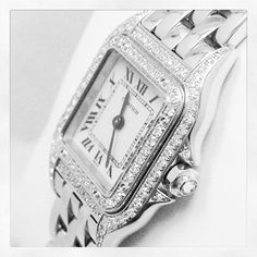 We love our job! We just inspected and certified this pre-owned #Cartier #Panther diamond watch for @Chrono24.