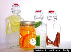 How to make homemade flavored vodkas.  source: Kitchen Daily