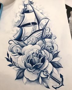 Simpson sea things alike caution educated black woman t shirt - Woman T-shirts Asian Tattoos, Black Tattoos, Tattoo Sketches, Tattoo Drawings, Life Tattoos, New Tattoos, Tattoo Barco, Traditional Ship Tattoo, Maritime Tattoo