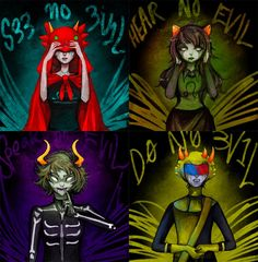 Homestuck  Four Wise Trolls