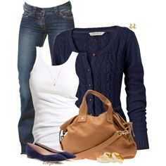 A fashion look from March 2015 featuring long sleeve tops, white shirt and blue jeans. Browse and shop related looks.