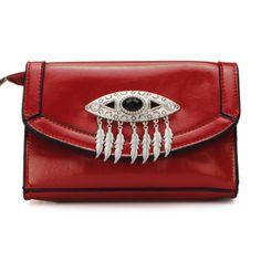 Women Eye Pattern Tassel Cross Body Bag