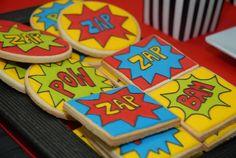 Cookies at a Superhero Party #superhero #partycookies