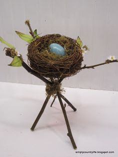My Simple Country Life: Handmade Rustic Spring Nest Decor