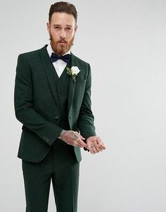 (20) FianceeBodas (@FianceeBodas) / Twitter Asos Wedding, Tuxedo Wedding, Wedding Men, Wedding Suits, Wedding Attire, Wedding Summer, Wedding Groom, Green Wedding Suit, Green Wedding Shoes