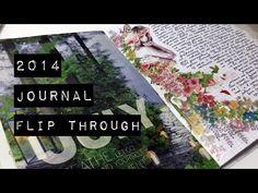 2014 Journal Flip Through Video   Paper & Font