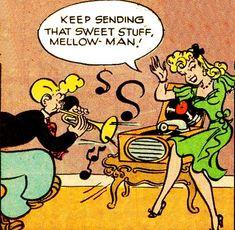 """Keep sending that sweet stuff!"" vinyl records in comics"