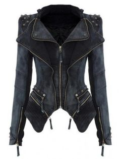 Buy Lapel Zips Asymmetric Hem Plaid Jacket online with cheap prices and discover fashion Jackets at Fashionmia.com.