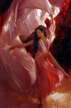 Evening Dress by the Artist Richard S. Johnson | Found on whiteswanslake.blogspot.com.br