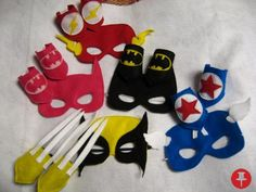 You choose the super heros! felt masks and matching wrist cuffs make a perfect party favor.  - $50 - Powered by Pin2Sell