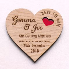 Heart Save The Date Wooden Magnets with Coloured Hearts Save The Date Magnets, Save The Date Cards, Wedding Stationery, Wedding Invitations, Invites, Rustic Save The Dates, The Wedding Date, Etsy Uk, Wooden Hearts