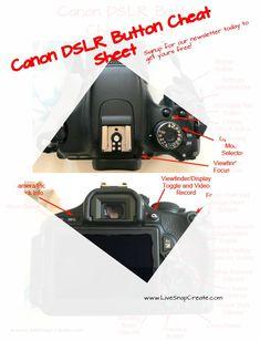 Free Canon DSLR Button Cheat Sheet