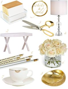 Gold + White Office