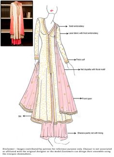 #DIY Cream #Sharara Suit