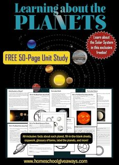 FREE outer space printable planet flashcards. Great for a ...