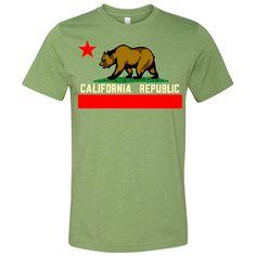 California Republic état T-Shirt Vintage Flag Bear West Side Cali tshirt