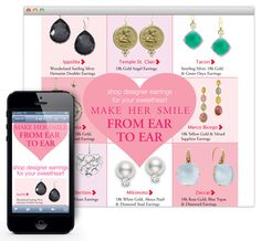 "From the source: ""Hyde Park Jewelers uses responsive design to customize their emails so the end customer can view it better Angel Earrings, Drop Earrings, Email Design Inspiration, Responsive Email, Make Her Smile, Email Templates, Hyde Park, Designer Earrings, Jewels"