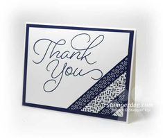 Simple Thank You Card Idea & our before & after shots of the kitchen makeover. Handmade Thank You Cards, Thank You Note Cards, Thank You Card Images, Cricut Cards, Stampin Up Cards, Dog Cards, Baby Cards, Washi Tape Cards, Thanks Card