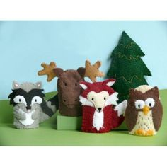 Woodland finger puppets- these look a lot like the little felt animals my mom made for C's room