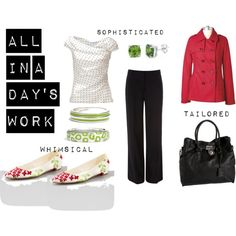 Workday Whimsy, created by tamarasland on Polyvore