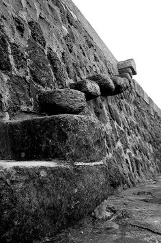 The Cob, Lyme Regis. Thought I would fall to my death climbing down these steps.