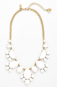 all white statement necklace - summer staple
