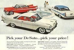 Vintage Car Ad. 1950's DeSoto