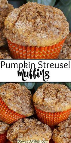 Apple Recipes, Pumpkin Recipes, Fall Recipes, Baking Recipes, Streusel Muffins, Streusel Topping, Just Desserts, Dessert Recipes, Cake Mix Muffins