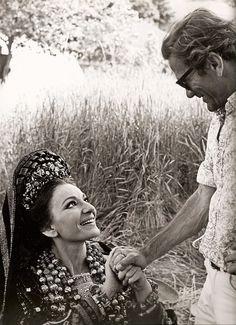 Maria Callas e Pier Paolo Pasolini sul set di Medea Goreme,Cappadocia