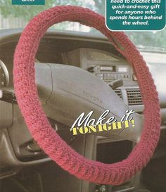 Crochet Pattern for a Steering Wheel Cover. Made a peppermint one for christmas but like this pattern for year round