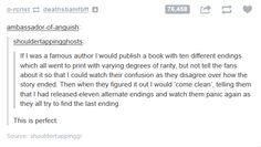 Famous author.  It's so evil!