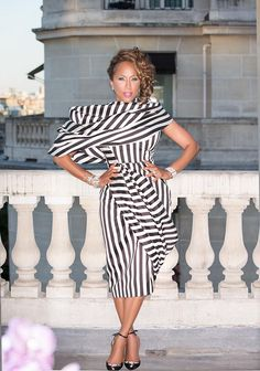 The Lady Loves Couture: Marjorie Harvey Wears Elie Saab, Giambattista Valli, Chanel, and more to Paris Fall 2015 Haute Couture Fashion Week