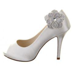dd5428a54 Rainbow Club Vela Shoe Clips - Bridal Jewellery - Crystal Bridal  Accessories Satin Wedding Shoes