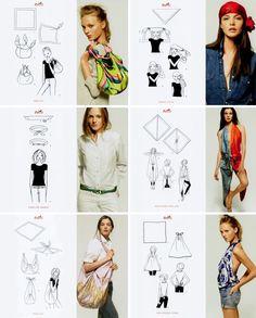 DIY: estilo Furoshiki Hermés bufanda
