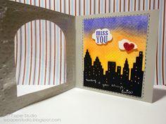 L.E. Paper Studio- Miss you card
