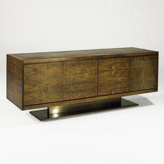 Warren Platner; Rosewood and Bronze Cabinet for Lehigh Leopold, 1970s.
