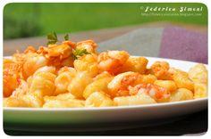 La cucina di Federica: Gnocchetti di ricotta con gamberi e salmone